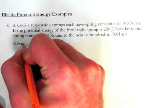 Elastic Potential Energy - Introductory Example Problems ...