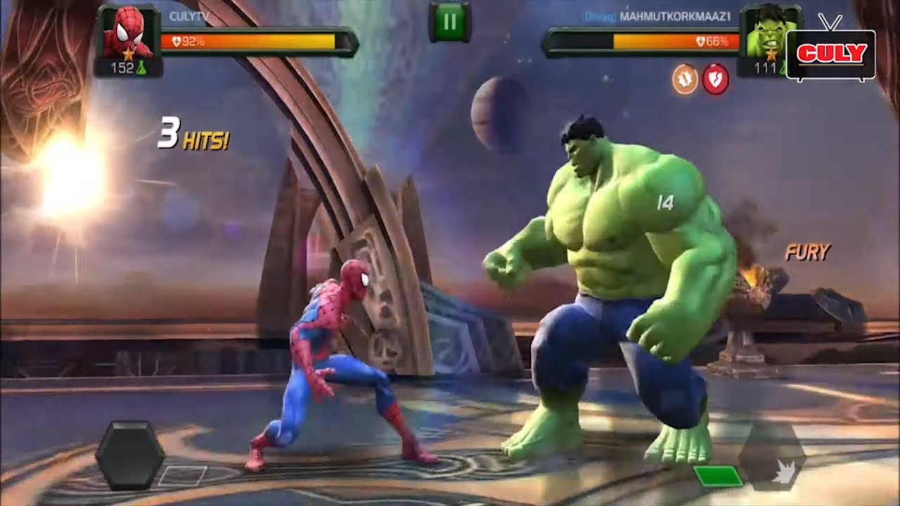 Trò chơi siêu anh hùng người nhện quyết đấu – cu lỳ chơi game CHAMPION MARVEL SPIDERMAN IRONMAN HULK