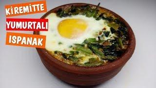 Kiremitte Yumurtalı Ispanak Tarifi