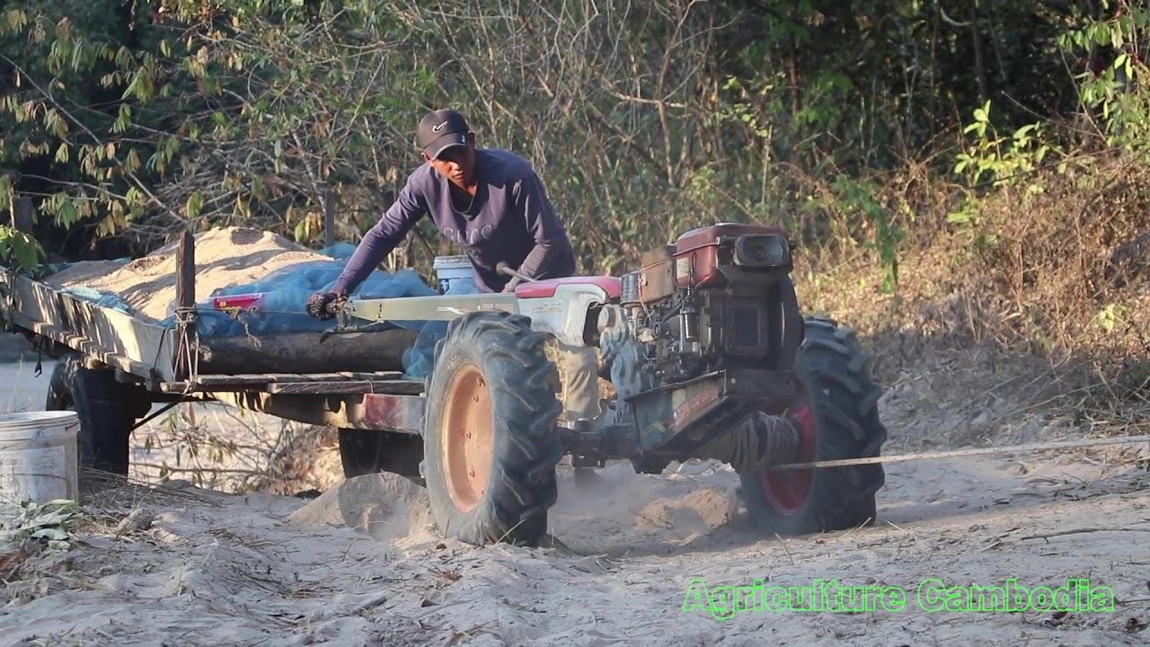 tractor stuck in sand and fiat tractor fuel pump problem   គោយន្តដឹកខ្សាច់ជាប់ផុង នឹងខូច