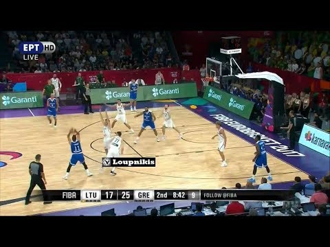 Λιθουανία - Ελλάδα 64-77 (HL) Lithuania vs HELLAS - Eurobasket 2017 -  Round of 16 {9/9/2017}