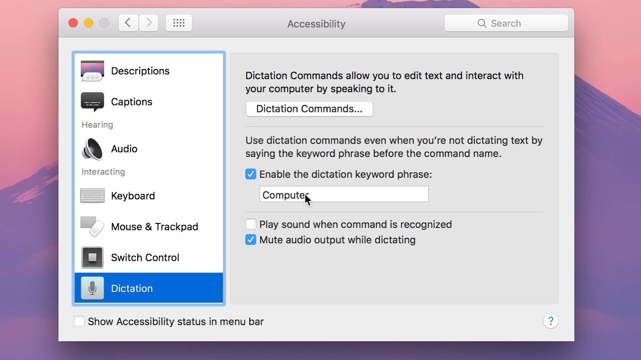 How-To: Start dictation on your Mac via a voice command