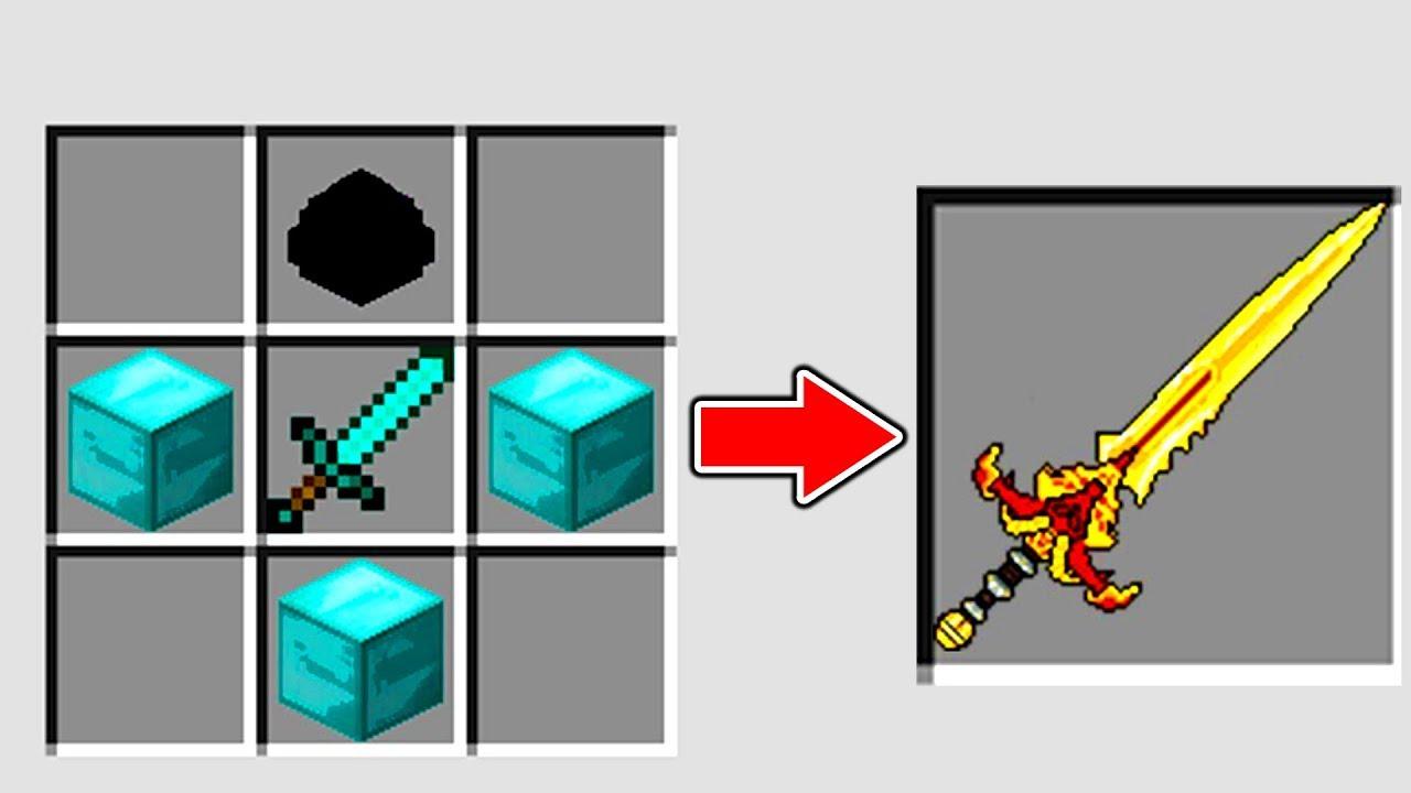Drachen Schwert Vom Drachen Gott Craften In Minecraft Youtube