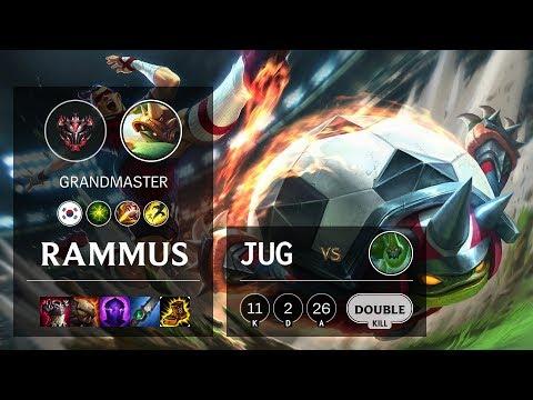Rammus Jungle Vs Zac - KR Grandmaster Patch 10.3