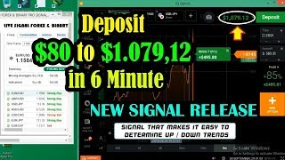Iq Option Winning Strategy - Deposit $80 to $1.079,12 in 6 Minute - Live Trading In Real Account