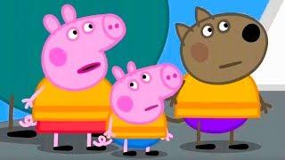Свинка Пеппа на русском все серии подряд Пеппа исследует маяк Мультики