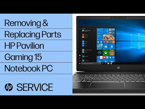 Removing & Replacing Parts | HP Pavilion Gaming 15 Notebook PC | HP Computer Service | HP