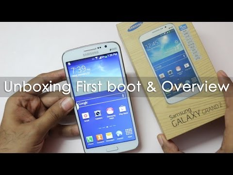 Samsung Galaxy Grand 2 Unboxing First boot & hands on Overview