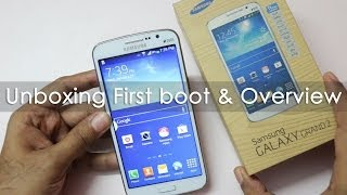Samsung Galaxy Grand 2 Unboxing First boot amp hands on Overview