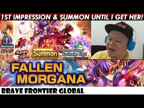 Fallen Morgana 1st Impression Review & Rare Summon Until I Get Her! (Brave Frontier Global)