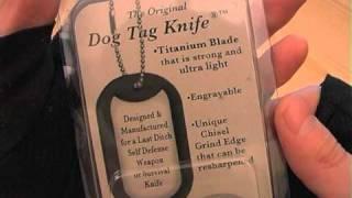 Нож-жетон Original Dog Tag обзор на русском(Титановый нож в виде армейского жетона с сайленсером. Скорее не нож а аксессуар имеющий режущую кромку..., 2011-02-09T18:19:40.000Z)