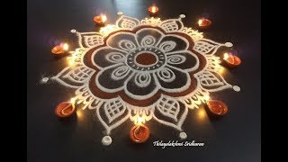 SIMPLE & EASY KOLAM FOR KARTHIGAI DEEPAM