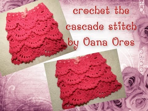 Crocheting Youtube : crochet the cascade stitch - YouTube