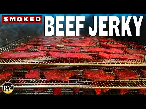 smoking beef jerky on the pellet grill camp chef woodwind wifi 24
