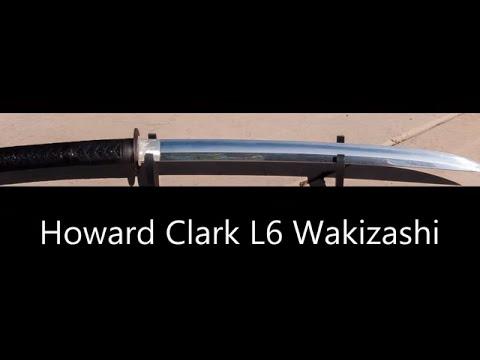 Howard Clark Naginata Naoshi Zukuri Wakizashi (L6 Banite Steel) Samurai Sword