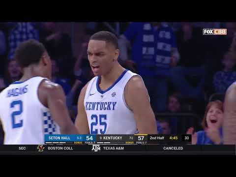 Seton Hall def. #9 Kentucky Highlights - #BIGEASThoops