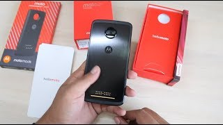 Moto Z2 Force India Unboxing, Hands on, Camera, Features, Moto Mods | Moto Power pack Mod