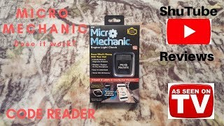 Micro Mechanic Automotive Code Reader! Dose it work? Lets find out!