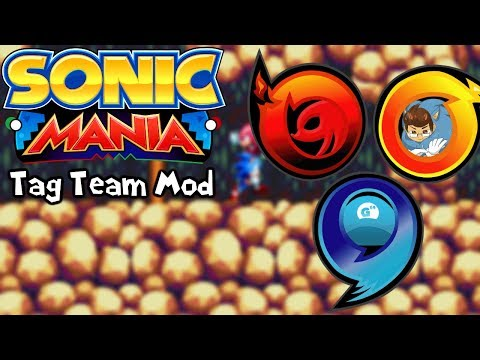 Sonic Mania Mods | Sonic Tag Team Mod Ft. DaveAce & Knuckles Channel 3 & Knuckles (1080p/60fps)