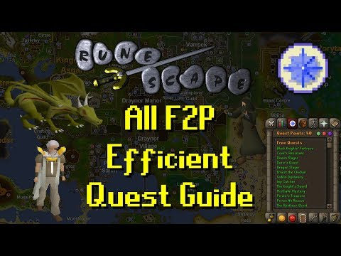 OSRS All F2P Efficient Quest Guide - Updated 2017