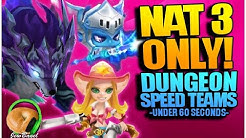 NAT-3 ONLY DUNGEON SPEED TEAMS! (Summoners War)
