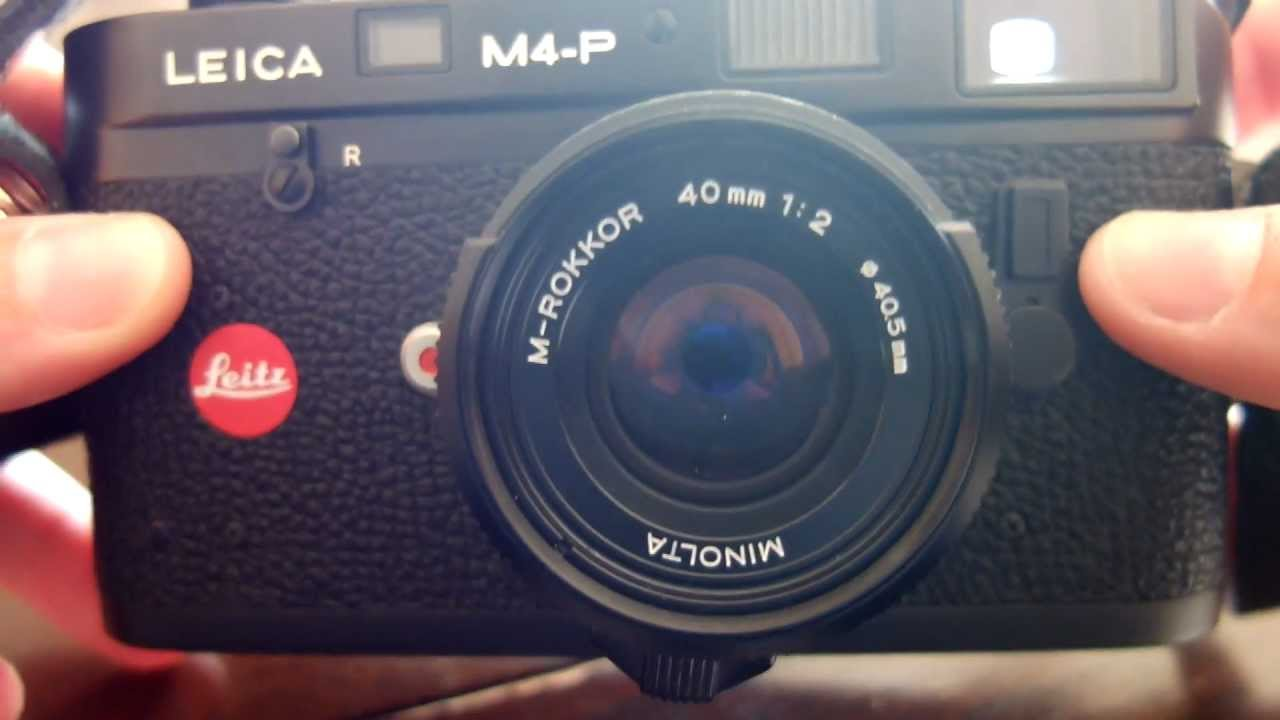 Leica M4-P with M-Rokkor 40mm f2