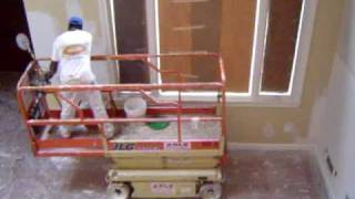 Drywall, Skimcoat and Painting High Ceilings with Scissor Lift  - ProPaintSquad.com