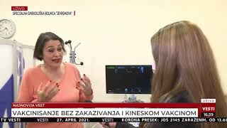 Prof. dr sci. med. Eliana Garalejić je govorila za Vesti TV