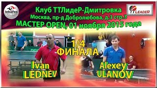 видео 1/2 FINAL Master Open Sergey FILCHEV - Ivan LEDNEV TTLideR Table Tennis