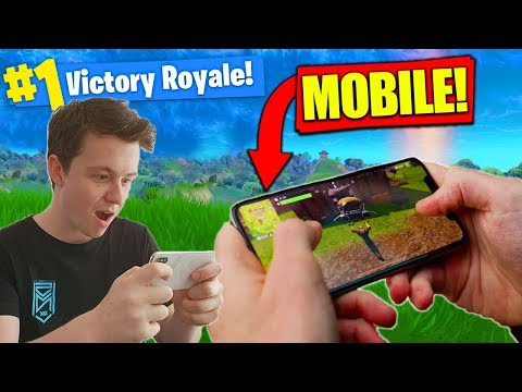 WINNING *NEW* FORTNITE On MOBILE! [Gameplay]