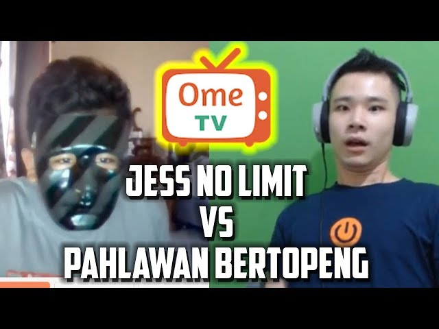 JESS NO LIMIT KETEMU PAHLAWAN BERTOPENG DI OME.TV?!?