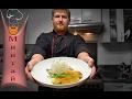Минтай жаренный в кляре с рисом и грибным соусом