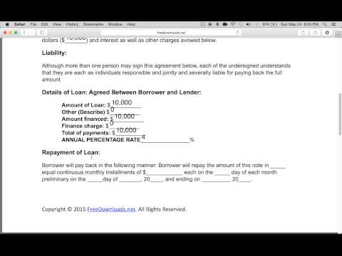 How to Write a Free Personal Loan Agreement | PDF | Word