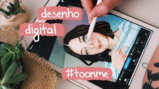 ME DESENHEI ESTILO CARTOON! DESAFIO #TOONME
