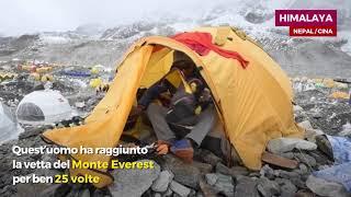 Quest'uomo ha raggiunto la vetta del Monte Everest per ben 25 volte