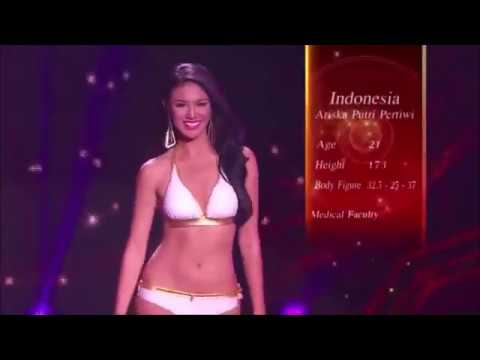 Ariska Putri Pertiwi Pakai Bikini Seksi Saat Miss Grand International 2016