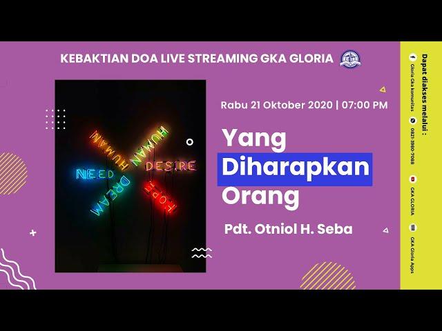 Kebaktian Doa Rabu Live Streaming - Pdt. Otniol H. Seba - 21 Oktober 2020