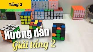 Hướng dẫn cách giải rubik 3x3 [Chậm, chi tiết, dễ hiểu] Tầng 2