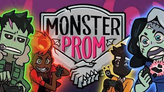 NEED DATES TO PROM! - Let's Play: Monster Prom Part 1 w/HusbandoGoddess, MadamSharky & Michaela Laws