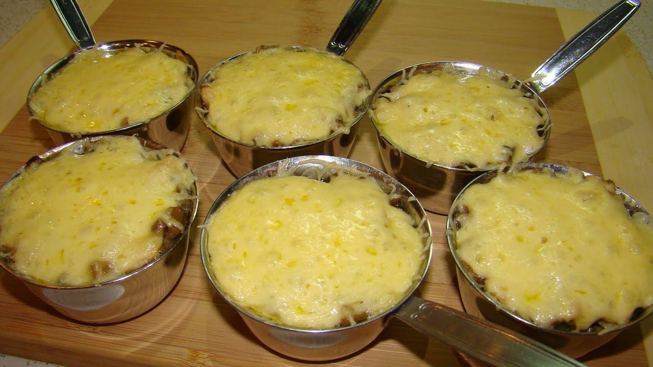 жульен с мидиями и грибами рецепт с фото