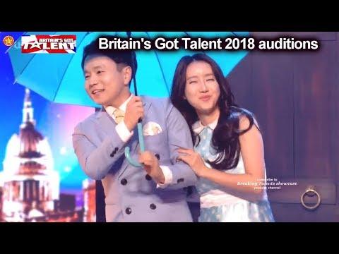 Ellie and Jeki Magic Act Fast Clothes Changes Auditions Britain's Got Talent 2018 BGT S12E04