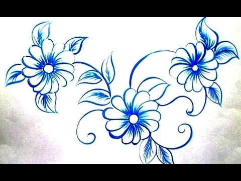One Stroke Fabric Painting   How To Paint Pillow Cover By Premlata   YouTube