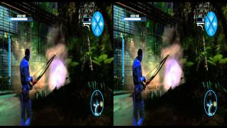 James Cameron's AVATAR the Game   3D sample   Игра Аватар   фрагмент игры в 3D
