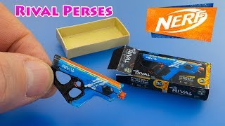 How to make NERF Rival Perses Miniatures DIY dollhouse accessories - Tutorial