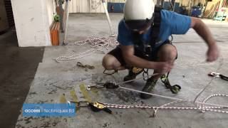 Rigging Tension Lines f๐r rope access