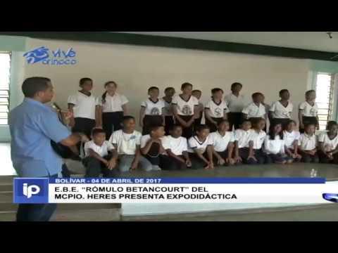"E.B.E. ""Rómulo Betancourt"" Del Mcpio. Heres Presenta Expodidáctica"