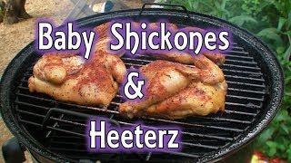 Bbq Baby Shickones( Cornish Game Hens) With Kirbbq Rub & Fajitas