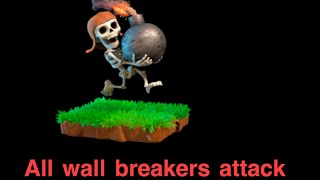 Clash of clans crazy wall breaker attack (Must watch)