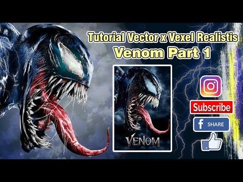 ( Photoshop Tutorial ) Vector Vexel Venom Realistic Part 1 thumbnail