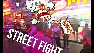 Street fight Magaluf уличная драка Mallorca real fight Spain